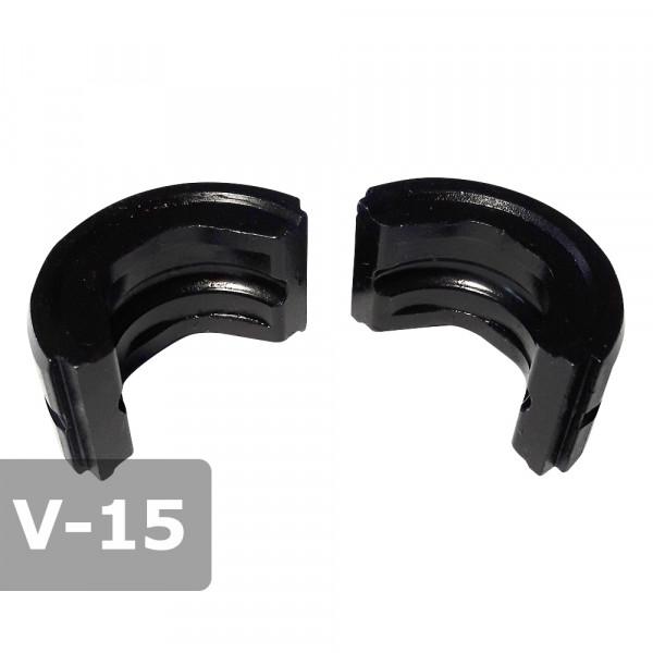 Pressbacke 15mm V-Kontur passend für Presszange HPZ ogw. für Kupferrohr