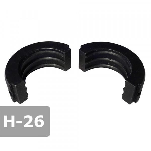 Pressbacke 26mm H-Kontur passend für Presszange HPZ ogw. für Verbundrohr