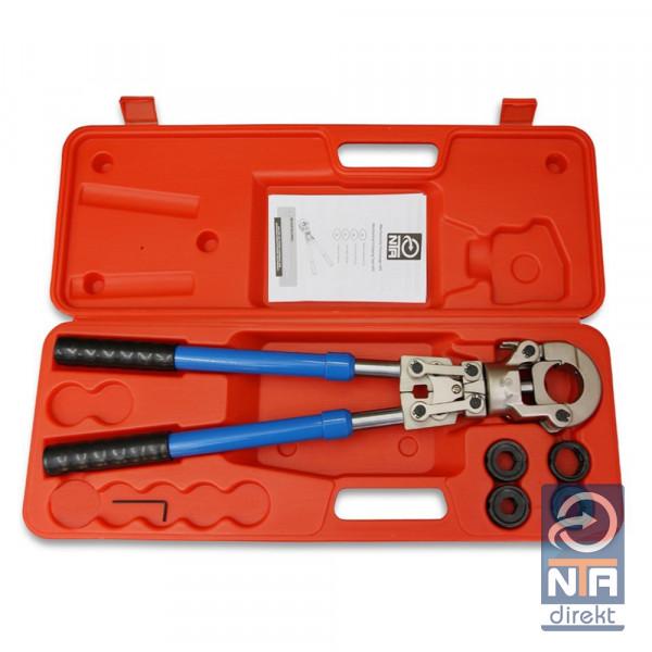 Presszange UP-Kontur Rohrpresszange mit 16-20-25-32 Pressbacken f. Verbundrohr