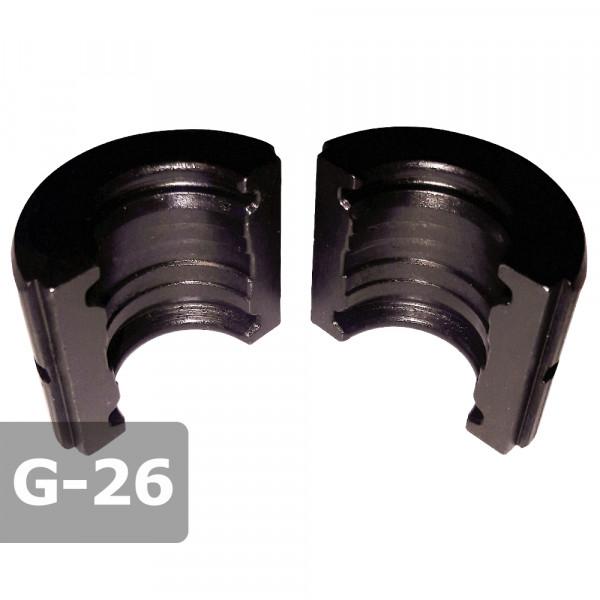 Pressbacke 26mm G-Kontur passend für Presszange HPZ ogw. für GEBERIT Mepla